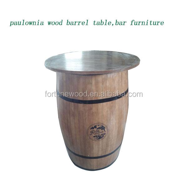 Paulownia Wood Custom Logo Beer Keg Table - Buy Beer Keg Table ...