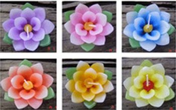 Royal lotus flowers floating candles thai handmade aroma for Aroma royal thai cuisine nj