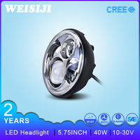 "New Arrival Jeep Wrangler Auto Accessories 5. 75""40W LED Headlight Offroad Driving Light Motorcycle Led Driving Lights"