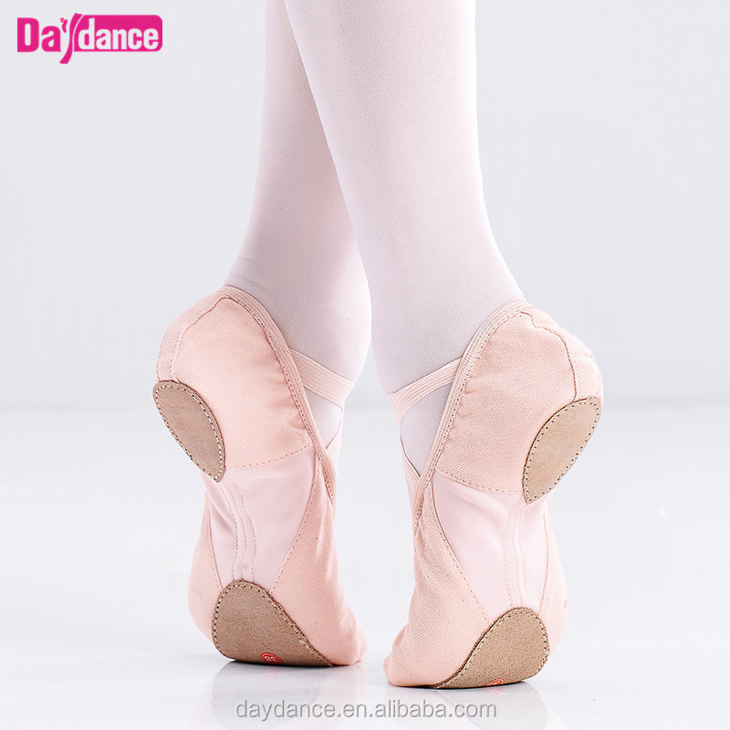 Stretch Canvas Ballet Shoes With Elastic Mesh