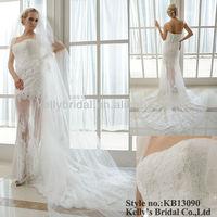 Designer Weddding Dress strapless neckline short informal wedding dresses