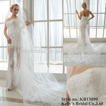Designer Weddding Dress strapless neckline short informal wedding ...