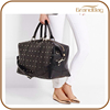 new fashion women travelling duffle bag genuine cow leather weekend holdall bag