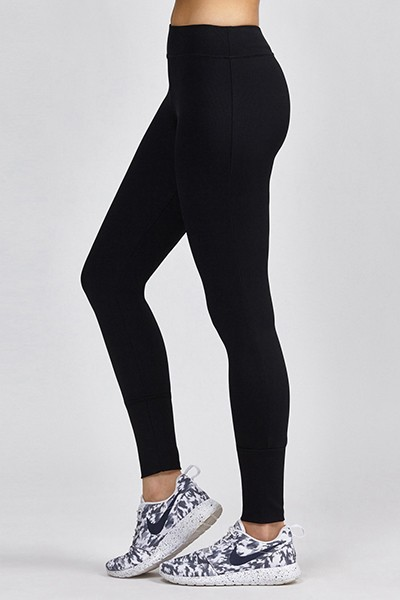 93% Micro Nylon 7% Spandex Black Seamless Compression Leggings For Women