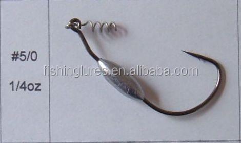 Fishing Jig Hooks Lead Head Fishing Worm Bait Jig Fishing Hook 1//8OZ 1//4OZ 3//8OZ