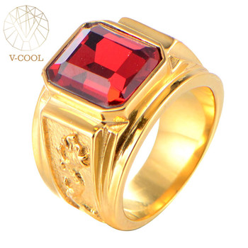 Indian Gold Plated Stainless Steel Gemstone Ring Design Men