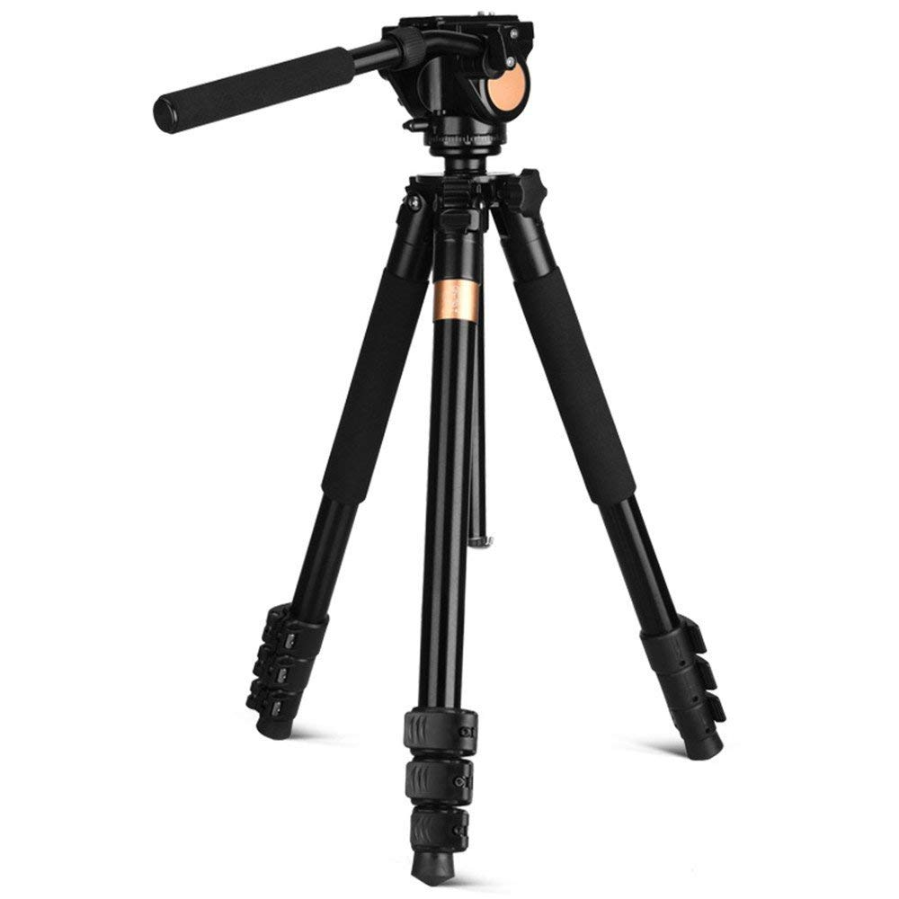 Portable aluminum alloy SLR camera tripod, three-dimensional PTZ tripod, 360 degree panoramic shooting