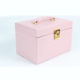 Latest style sweet pink over the door jewelry drawer organizer for girls as gift