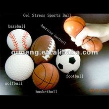 TPR plastic sports ball with jelly or water inside