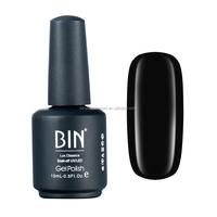 BIN Nail Painting Supplies Black Color 15ml UV Gel Polish