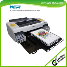 Perfect performance A2 size with high resolution and strong adhesive WER-D4880T digital t shirt printing machine