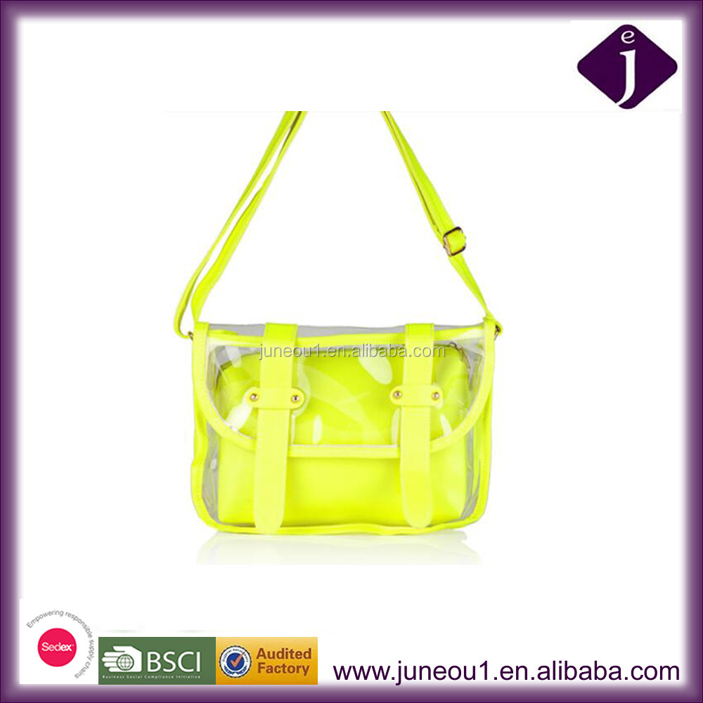 Clear PVC Gift Shoulder Handbag Beach PVC Bag Brightly Soft Leather Lady Shoulder Bag
