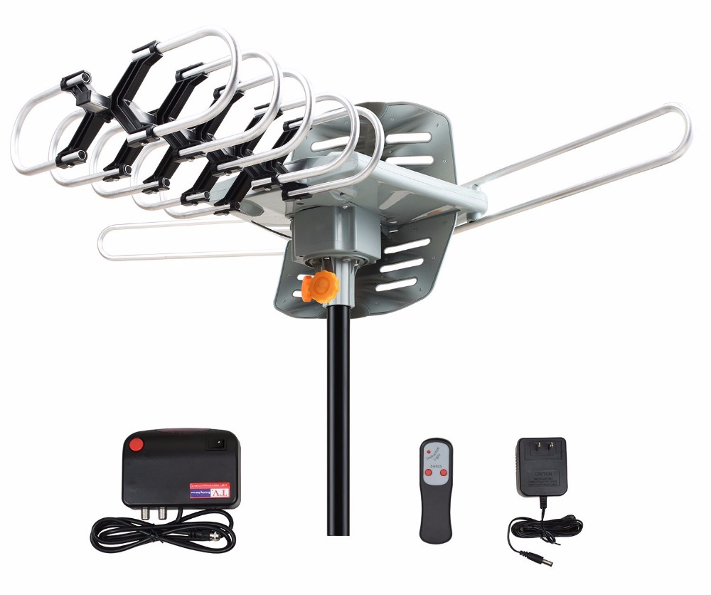 Amplified Outdoor Antenna HDTV antenna 150 miles range with wireless remote omni digital tv antenna