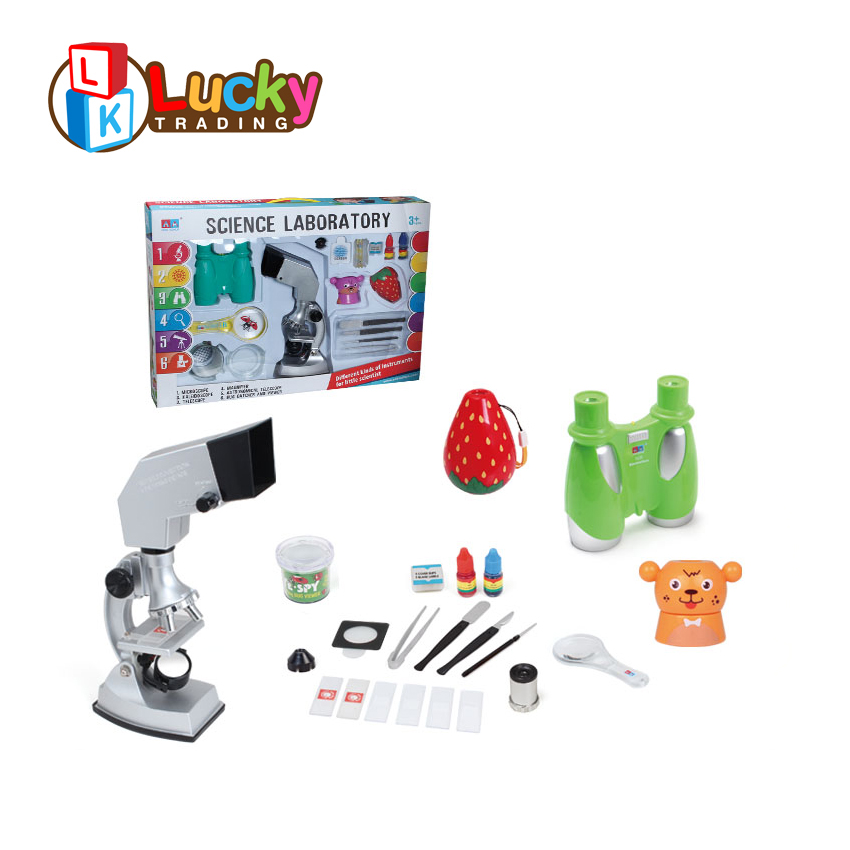 intelligent biological lab science kit toys kids microscope for scientist role play
