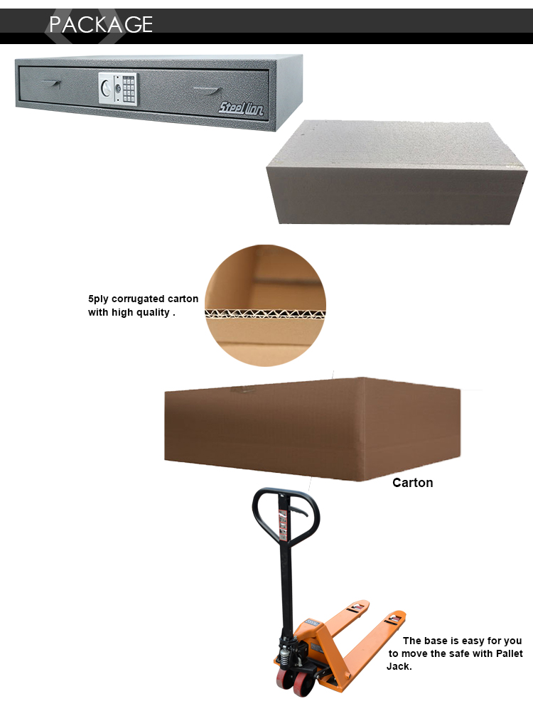 2018 hot sale durable and safety electrical hidden safe box suitable for under bed
