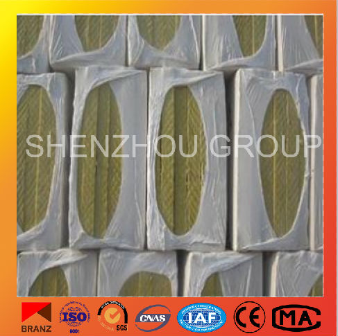 rock wool blanket with wire mesh basalt fiber wool fireproof fire rated rock wool from shenzhou factory