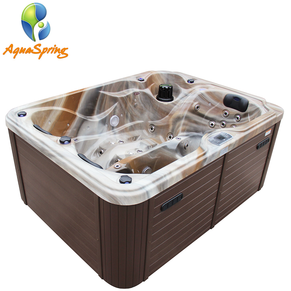 Foshan Aquaspring 3-person hydro massage whirlpool badewanne mit UNS system