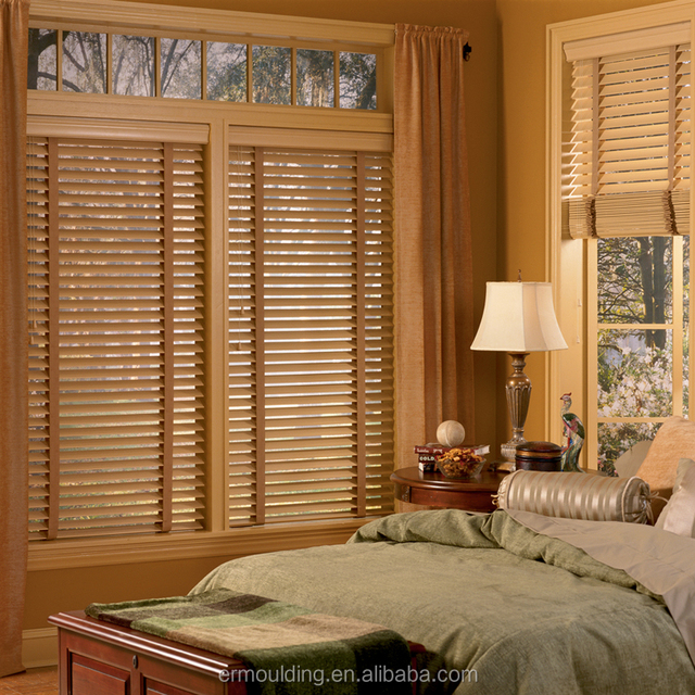 Custom Oak Solid Wood New Interior Plantation Window Shutters