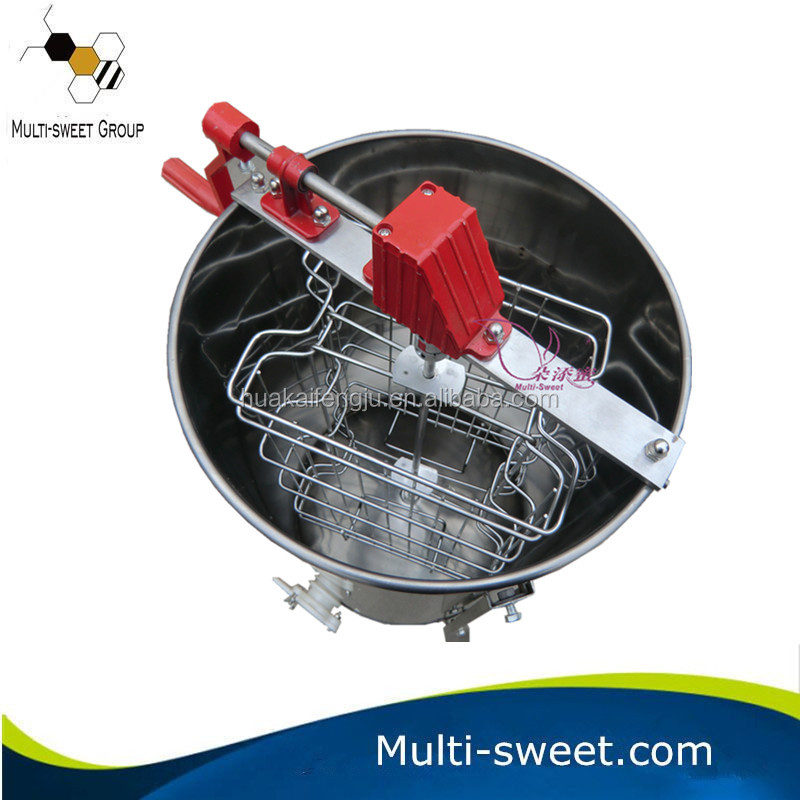 Stainless steel 2 frames manual honey bee extractor/honey processing machine