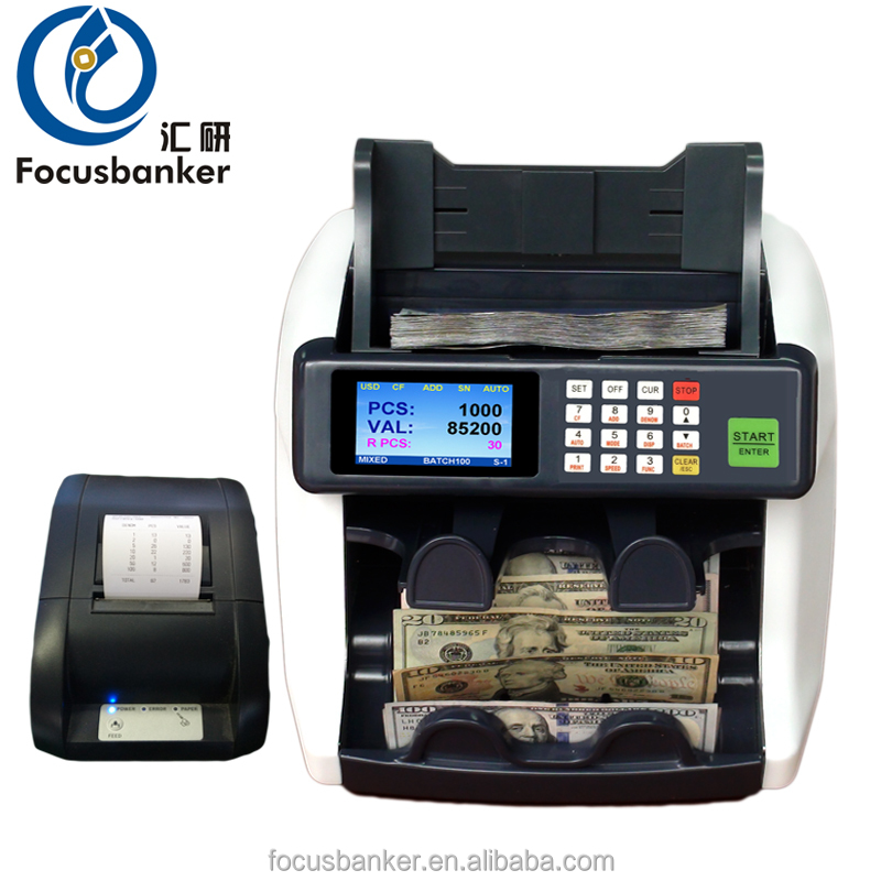desktop two pocket currency sorter money counter fake note detector bill banknote counter