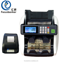 desktop two pocket currency sorter money counter note detector bill banknote counter
