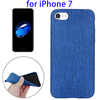 Denim Texture TPU Protective Back Cover for iPhone 7