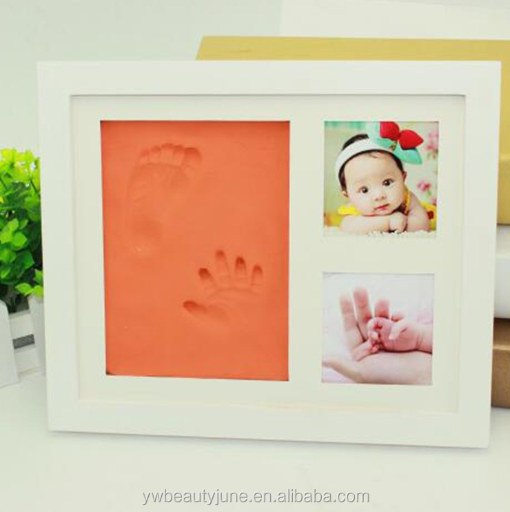 baby hand and foot prints inkpad baby gifts limbs die one hundred days photo Frame with 200g inkpad