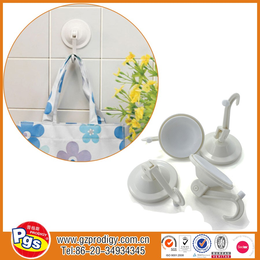 Locking suction hook bathroom plastic hook silicone suction cups