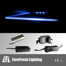 blue color led glass shelf clip light metal clip light for display