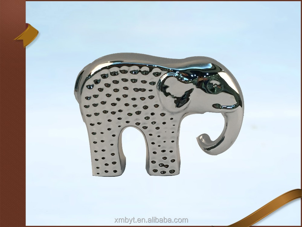 Supplier ceramic elephant plant stand ceramic elephant plant stand wholesale supplier china Silver elephant home decor