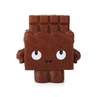 cute squishy food chocolate man PU toy stress ball and anxiety reducer soft and squishy creative PU toy - Toys Zone