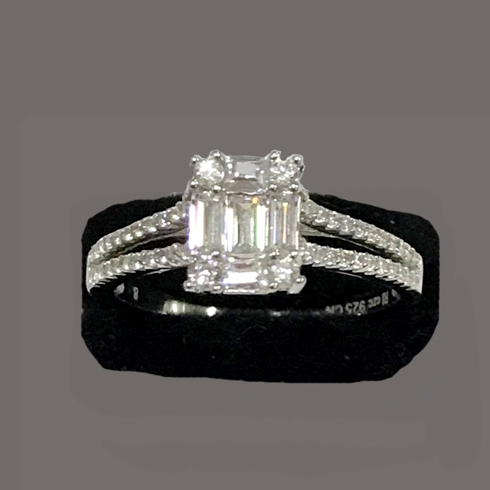 Engagement Rings Sterns: Princess Cut Mexican Sterns Engagement Wedding Bridal