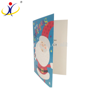 Sale Well Christmas Best Wishes Card Paper Colorful Printed Cards