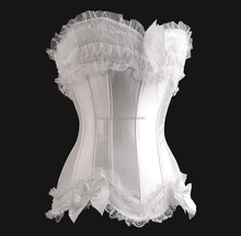<span class=keywords><strong>Donne</strong></span> Sexy Fancy Lingerie Biancheria Intima Da Sposa Fashion Design <span class=keywords><strong>Corsetto</strong></span> In Raso