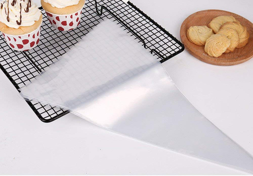 PhantomSky Disposable Pastry Bag - 50 Pieces 12 Inch [Extra Thick] Icing Piping Decorating Pastry Bags DIY Tools Supplies for Cake Cookies Candy Cupcakes Royal Frosting - Perfect for Baking Lover