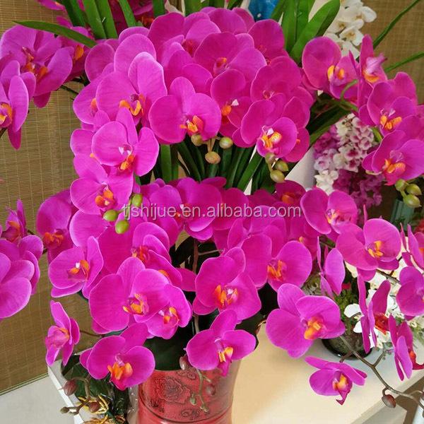 Artificial Flowers Long Stem Phalaenopsis Orchid
