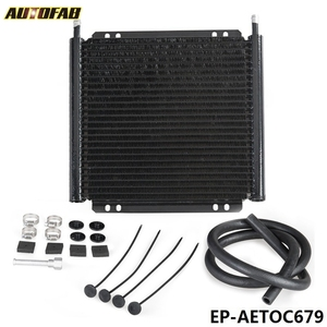 AUTOFAB Racing Car Series 8000 Type 24 Row Aluminum Plate & Fin Transmission Oil Cooler EP-AETOC679