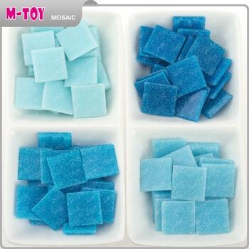Cheap As53 Wholesale Blue Square 20x20 Vitreous Mosaic