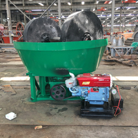 Energy saving 1200 diesel engine double roller gold wet pan mill,china wet pan mill for gold grinding