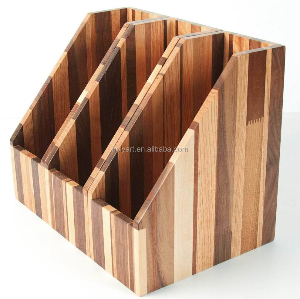 Hot High Quality Wooden Office File Rack Box Racks Product On Alibaba