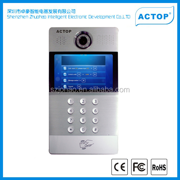 "Wholesales full digital 7"" touch screen Video Door Bell for project"