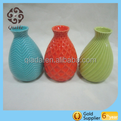 Wholesale stoneware flower vase for home decoration ceramic gift