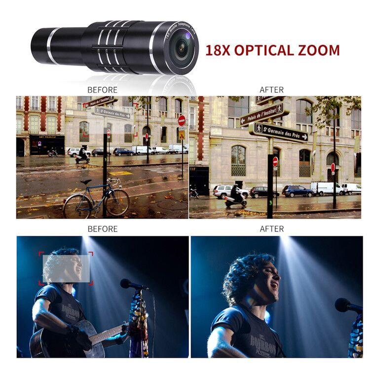 18x zoom mobile phone telephoto camera lens for iphone 5 6 plus