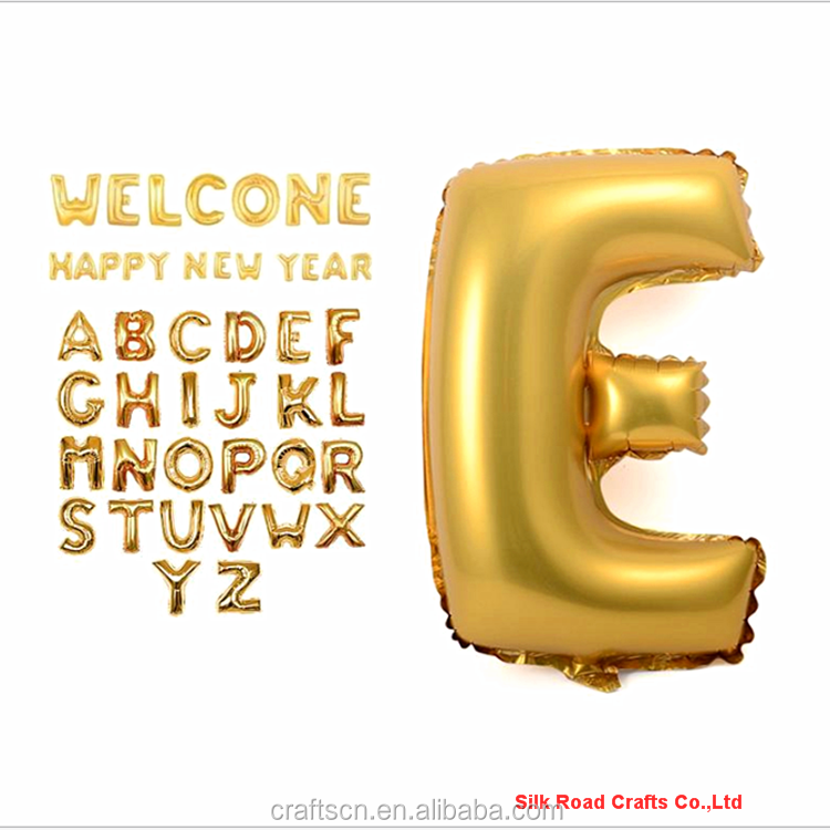 Inflatable Golden Color Foil Alphabet Letter Balloon
