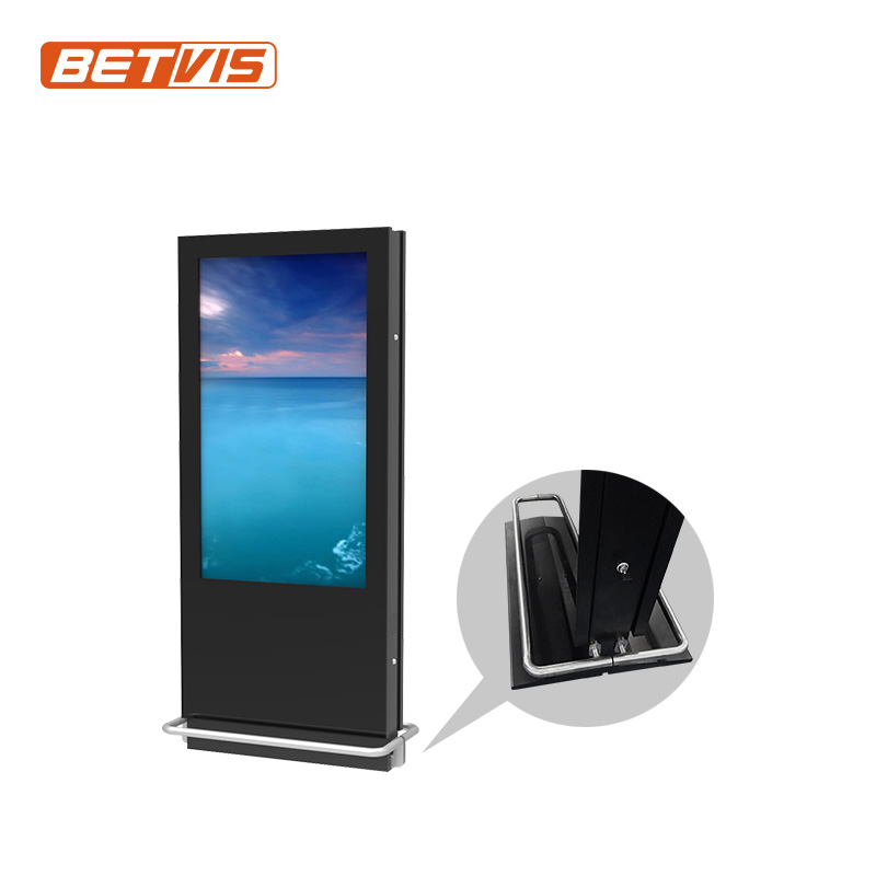 "55"" 55inch Network Android Windows high quality double sided lcd digital display mall kiosk with digital signage software"