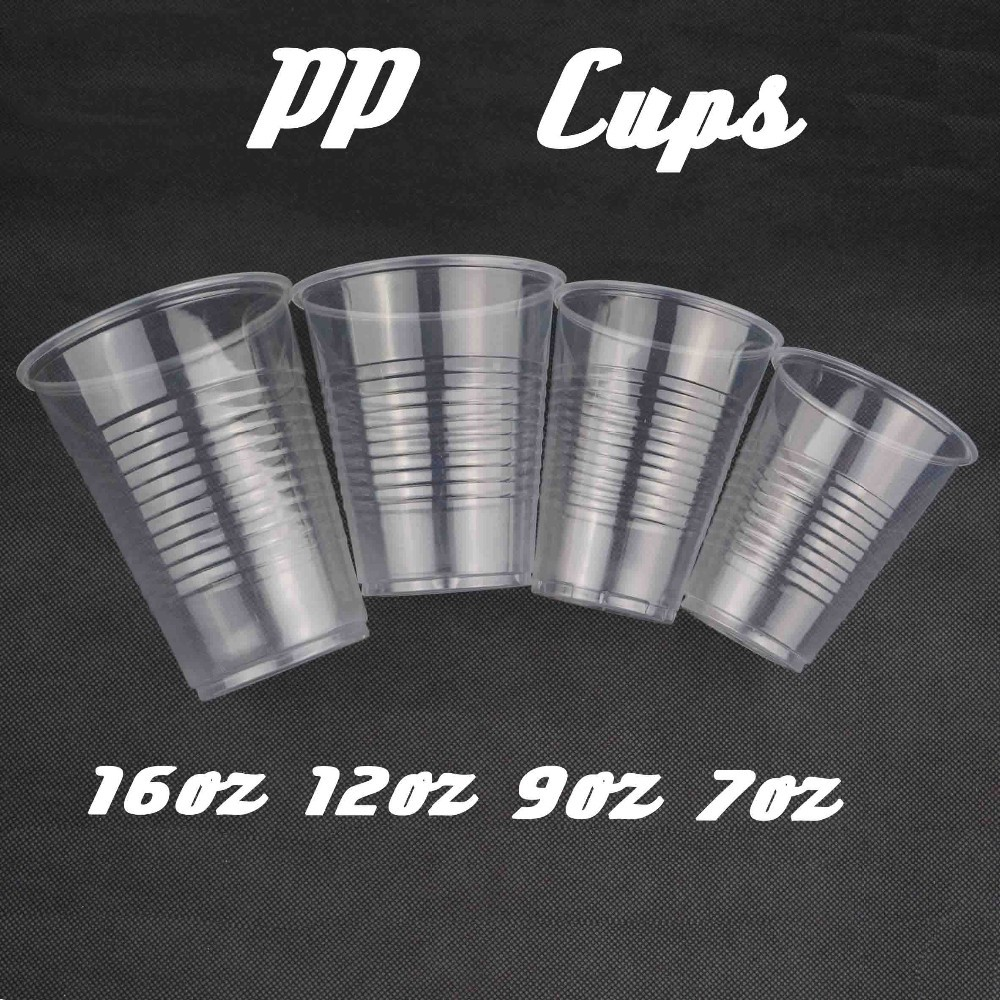 Horizontal Lines PP Cups