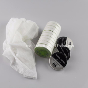 cleaning use tissue cloth compressed round washcloth