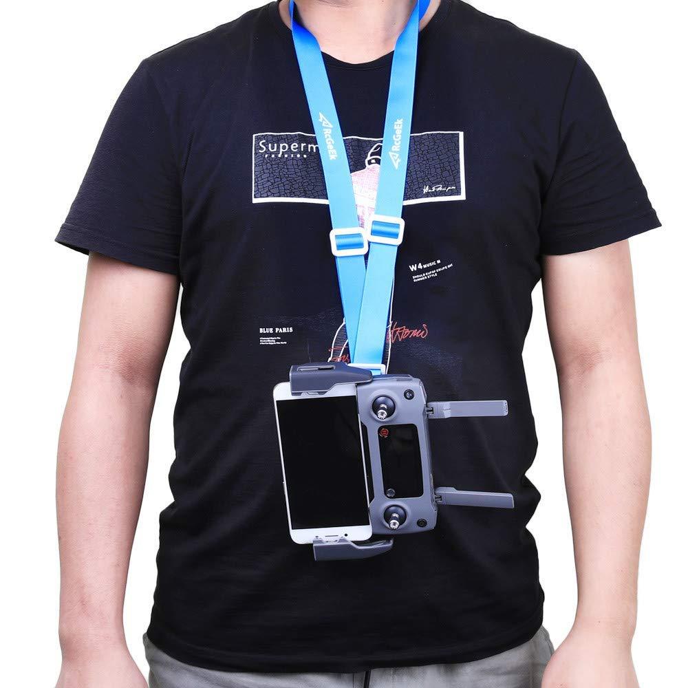Iusun Neck Strap, Adjustable Remote Controller Lanyard Strap Sling Belt Clasp Neck Strap For DJI Mavic 2 (Blue)