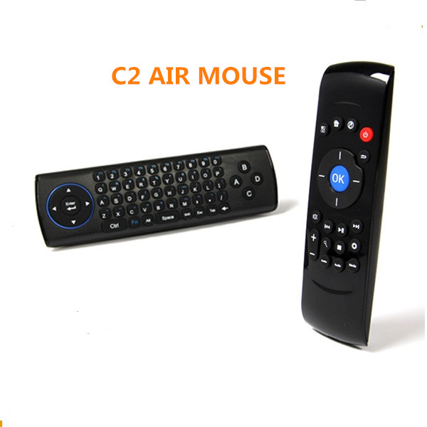 smart life Portable 2.4Ghz Wireless keyboard c2 Air Mouse