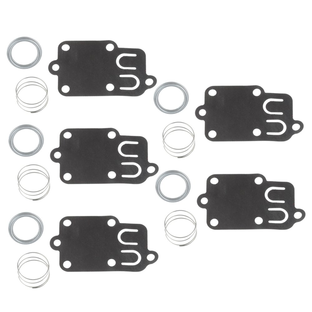 5PCS Carburetor Diaphragm Gasket kit for 2hp thru 5hp Engines Briggs & Stratton 270026 272538 272538S 272637 4157 4168 5021 5021K 690766 221377 Spring Cap